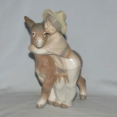 Lladro Handmade in Spain figure Platero and Marcelino MEXICAN INFLUENCE