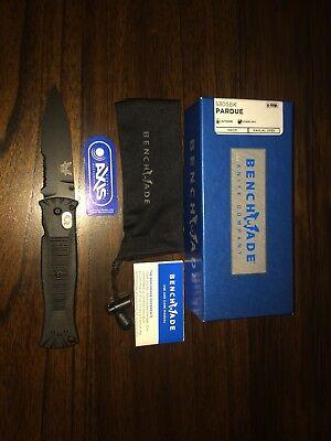 BENCHMADE Black PARDUE 154CM Serrated SPEAR point Knife 530S 2010 Ross Coleman