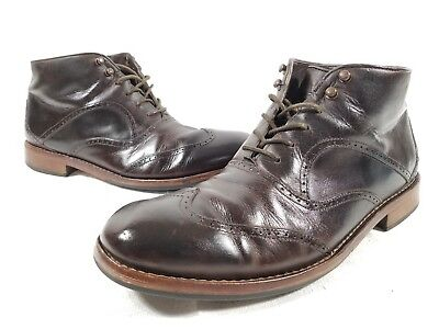 c9b4439c836 MENS WOLVERINE WESLEY 1000 Mile Wingtip Chukka Boots W05366 Size 11 D