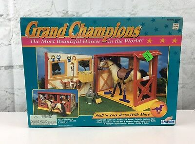 Grand Champions; Stall n Tack Room With Mare; By Empire, NO 50069; NEW in Box