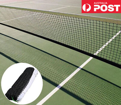 12.8x1.08M Tennis Court Net Standard FULL Size Steel Cable Included
