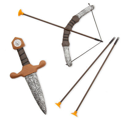 NWT Disney Store Peter Pan Bow & Arrow w/ Dagger 5pc Toy Accessory Set Costume