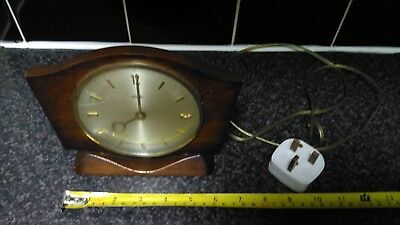 Vintage Mains Mantle Clock.Spares Or Repair.not running although audible hum
