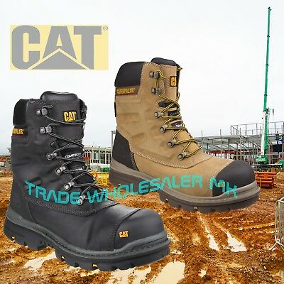 Caterpillar CAT Premier S3 Safety Combat Side-Zip Boots & Midsole sizes 6-12
