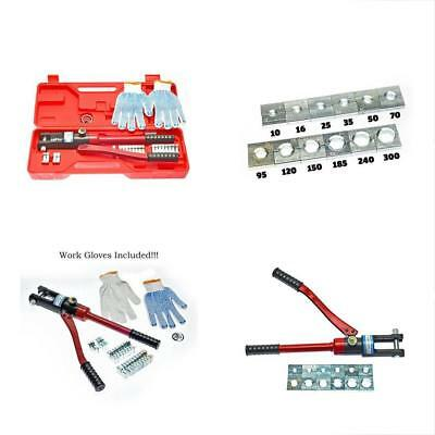 16 Ton Hydraulic Wire Crimping Tool - Battery Cable Lug Terminal Crimper With 12