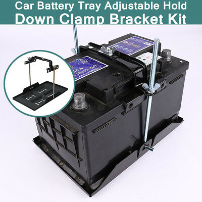 Universal Car Battery Tray Hold Down Clamp Bracket Cycle Adjustable 23 x 34.5CM