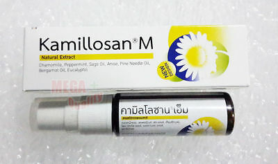 KAMILLOSAN M Spray Anti Inflammatory Bacterial Tonsil Buccal Bad Breath 15 ml.