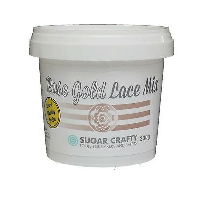 Sugar Crafty ROSE GOLD Cake Lace Mix 200g