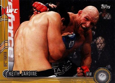 Keith Jardine (#27) 2015 Topps UFC Chronicles Gold Parallel 32/88. New.