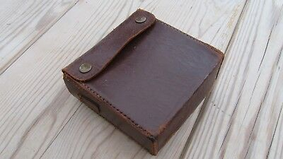 Leather pouch, purpose unknown
