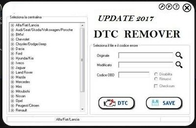 DTC REMOVER  Version 2017 solutions for DTC REMOVE