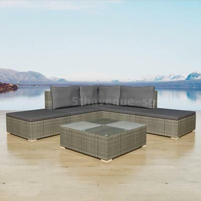 42745 15 Piece Garden Sofa Set Poly Rattan Grey Uk Ie Fi