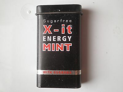 Sugar free X-it energy mint Gum Tin Box,Metal miniature case,with Guarana
