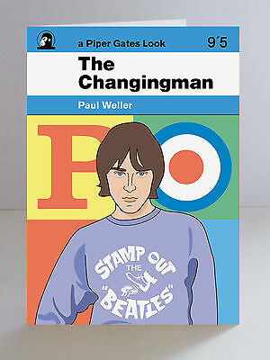 Paul Weller The Changingman Limited Edition A5 Greeting Card The Jam Mod Retro