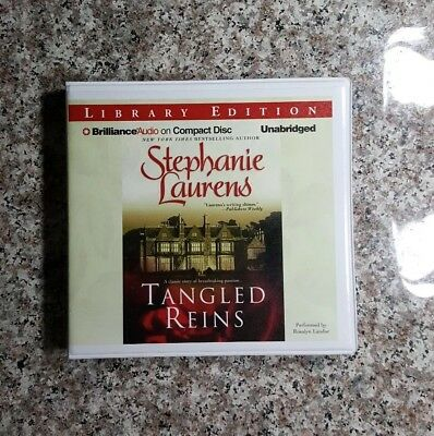 Tangled Reins by Stephanie Laurens - BRAND NEW AUDIO BOOK, FREE SHIPPING, 8 disc