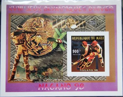 MALI 1996 Block A 101 A S/S 855 Winter Olympics Nagano Ice Hockey Eishockey MNH