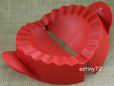 Tupperware Empanada Maker Pastry Mould For Pasties & Curry Puff Popsicle Red New