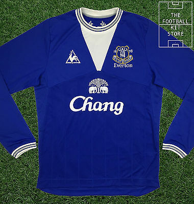 Everton Home Shirt - Official Le Coq Sportif - Long Sleeved - 2XL