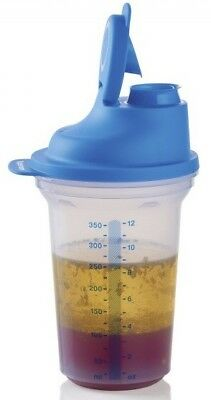Tupperware All In One Ez Shaker Small Quick Shake Sheer & Blue New