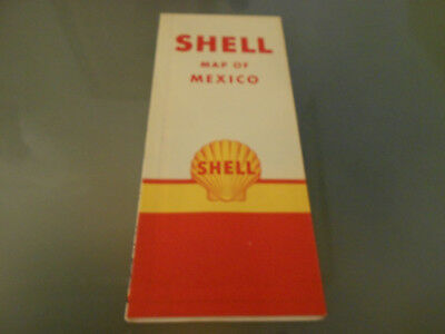 USA-Roadmap von 1968-Map of MEXICO-SHELL