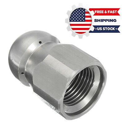 1/2''F Pressure Washer Drain Sewer Cleaning Pipe Jetter Rotary Nozzle 5 Jet US