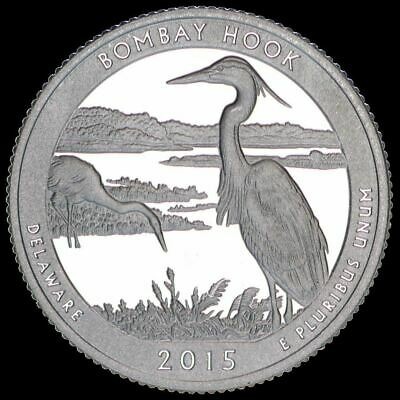 2015 S Delaware Quarter ATB Bombay Hook Gem PROOF Deep Cameo US Mint Coin