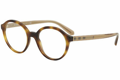 542384e02f6 Burberry Women Rounded Eyeglasses BE2254 3316 Brown Frame Demo Customisable  Lens