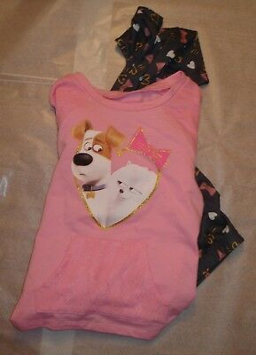 NWT Baby Girl Secret Life of Pets 2 pc Pajama Set size 4T