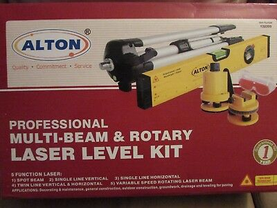 ALTON PROFESSIONAL MULTI-BEAM & ROTARY LASER LEVEL KIT 132300 COMPLETE with BOX!