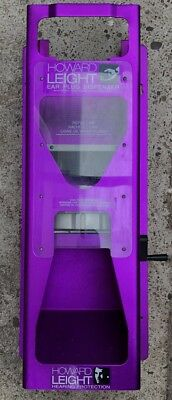 HOWARD LEIGHT EARPLUG DISPENSER WALL MOUNTED PURPLE Excellent Used Condition