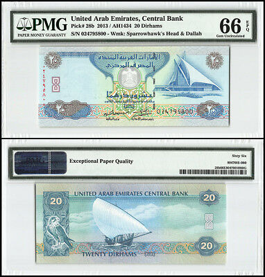 United Arab Emirates - UAE 20 Dirhams, 2013 - 1434, P-28b,Golf,Yacht Club,PMG 66