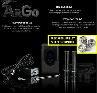 2019 Newest Arizer ArGo Portable Digital Temperature + FREE STEEL BULLET GRINDER