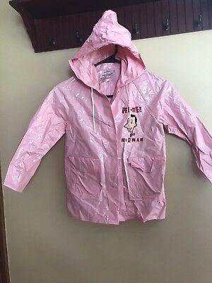 ULTRA RARE Vintage 1989 Pee-Wee Herman brand child's rain coat size 5 GUC Pink