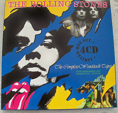 "Rolling Stones ""The Complete Woodstock Tapes"" 4Cd Deluxe Lp Sized Box Set + Book"