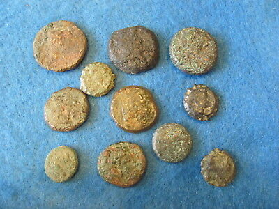 Fantastic RARE Lot of (11) Greek coins 3rd -1st cent. B.C.