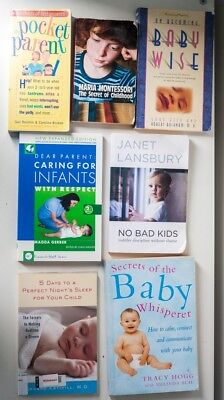 parenting books, bundle of 7 books from baby to pre-school