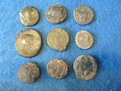 Fantastic RARE Lot of (9) Greek coins 3rd -1st cent. B.C.