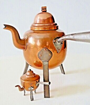 Brass & Copper Kettle From Sweden  • Decorative • Keepsake • Collectible