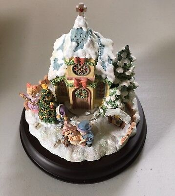 Hawthorne Village Precious Moments O COME LET US ADORE HIM Lighted Figure Mint