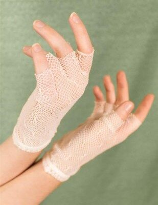 Victorian Trading Co IVORY Mesh Lace Fingerless Gloves Free Ship NIB