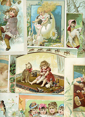 Set 10 LG Lion Coffee Woolson Spice Imperfect Victorian Trade Cards