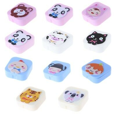 Cute Cartoon Contact Lens Box Objectives Travel Portable Case Container Storage