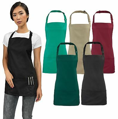 Premier Colours 2-in-1 Apron Reataurant Kitchen Adult Cooking Style Chef PR159