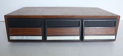 Retro 80s Cassette Tape Storage Drawers Holds 36 Tapes