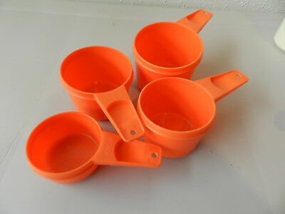 Vintage Tupperware Measuring Cup Replacement PIECES ORANGE APPLE GREEN BEIGE