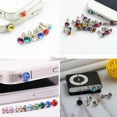 3.5mm Earphone Jack Artificial Diamond Anti Dust Plug Mobile Phone OK 01