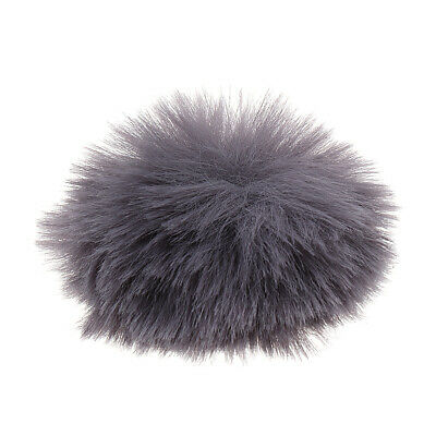 1pc Silver Gray Microphone Furry Windscreen Windshield Muff Mic Furry Cover