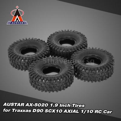 4Pcs AUSTAR AX-5020 1.9 Inch 120mm Rock Crawler Tires for 1/10 Traxxas  A4P3