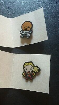Captian Marvel and SGT. FURY Collectible Lapel Pin (Marvel) INFINITY WAR