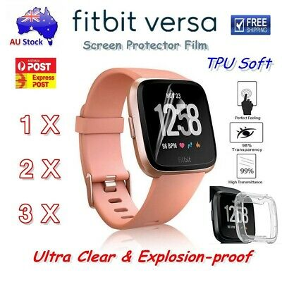 Fitbit Versa Screen Protector Explosion-proof Full Coverage Soft TPU Film /Case